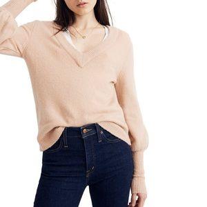 MADEWELL: Dashwood V-Neck Victorian Sleeve Sweater